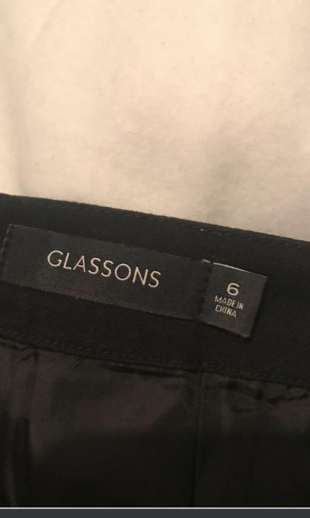 Glassons Black Pleated Skirt