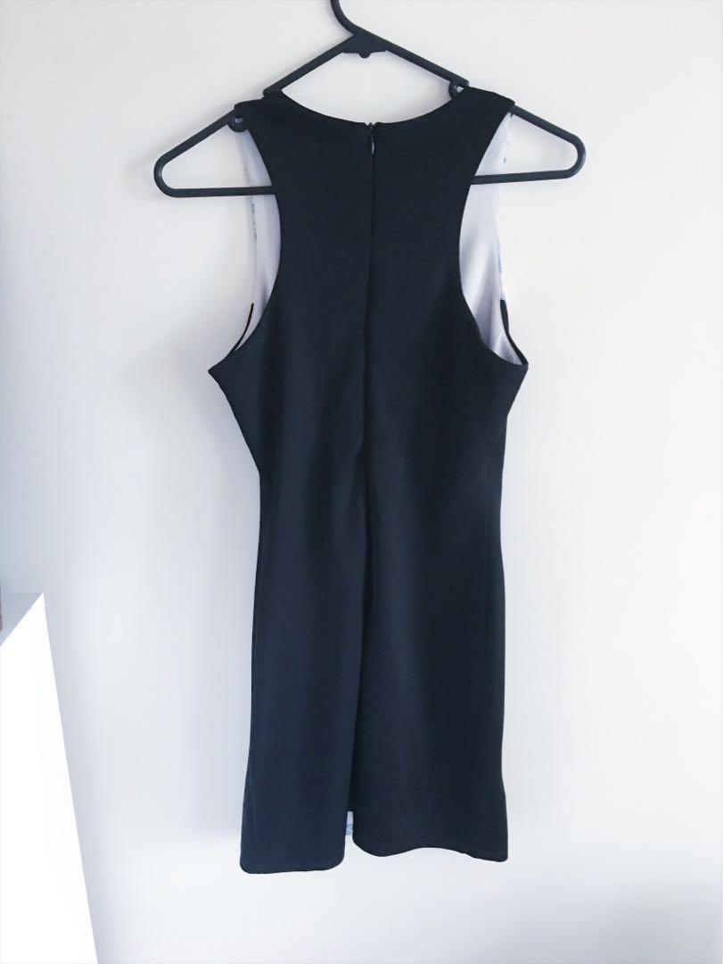 Gorgeous Blue Marble Bodycon Dress - Size 8
