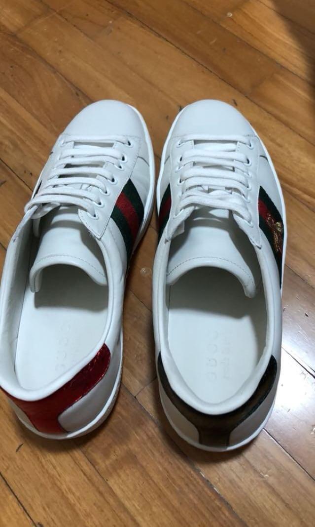 fbb8e3536 Gucci Ace Sneakers / Flip Flops, Men's Fashion, Footwear, Sneakers on  Carousell