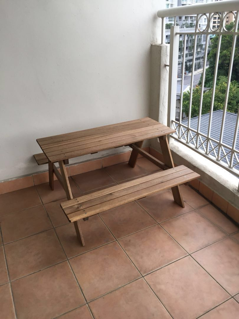 490d58e741 Ikea RESO Children's Picnic Table (Price Reduced), Home & Furniture, Others  on Carousell