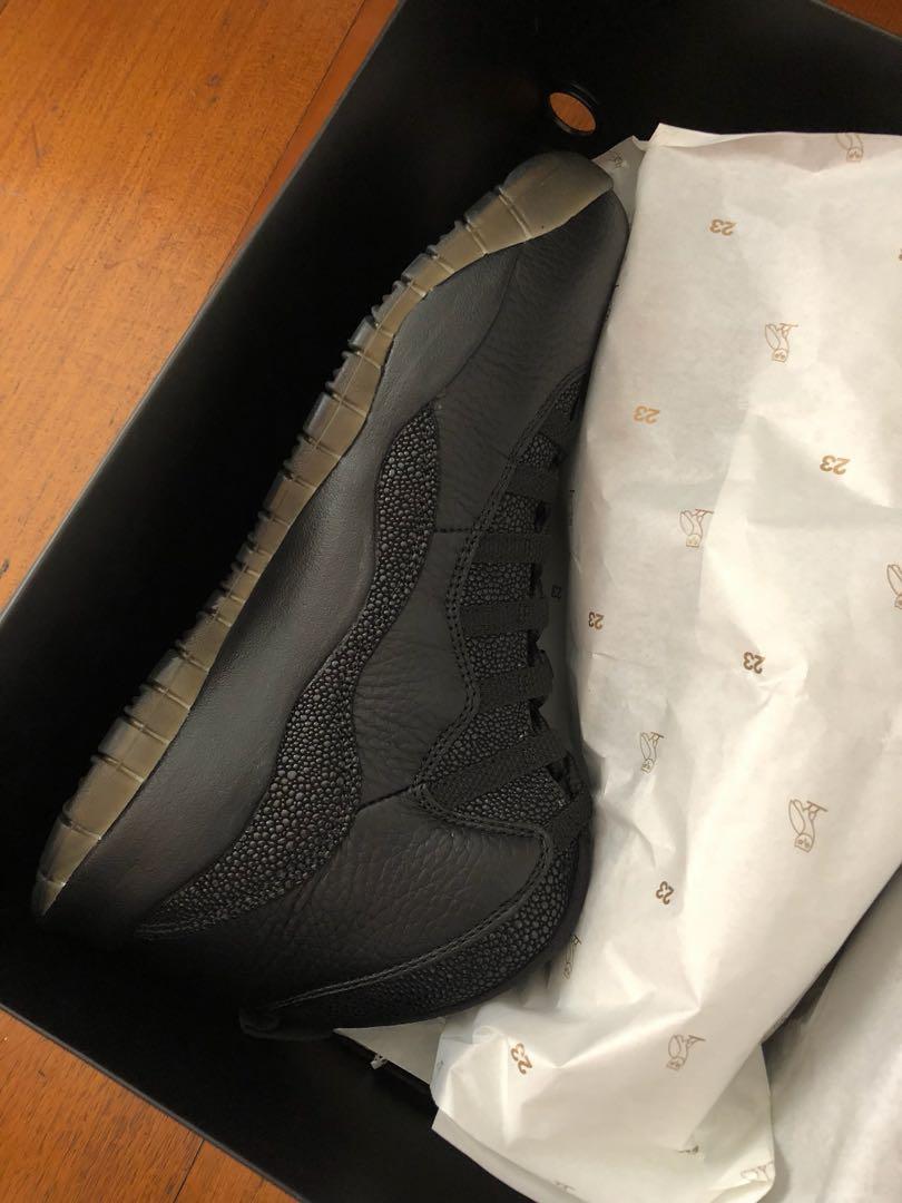 a7469530e3c Jordan 10 OVO Black Drake, Men's Fashion, Footwear, Sneakers on ...