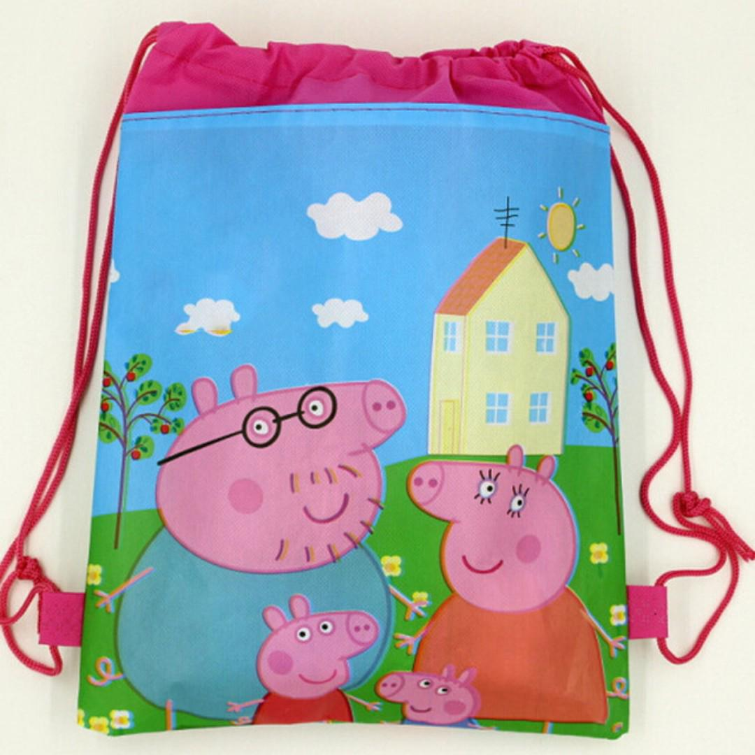 6c2c8e45acec Kids Boys Girls Children Cartoon Drawstring Peppa Pig Swimming Party ...