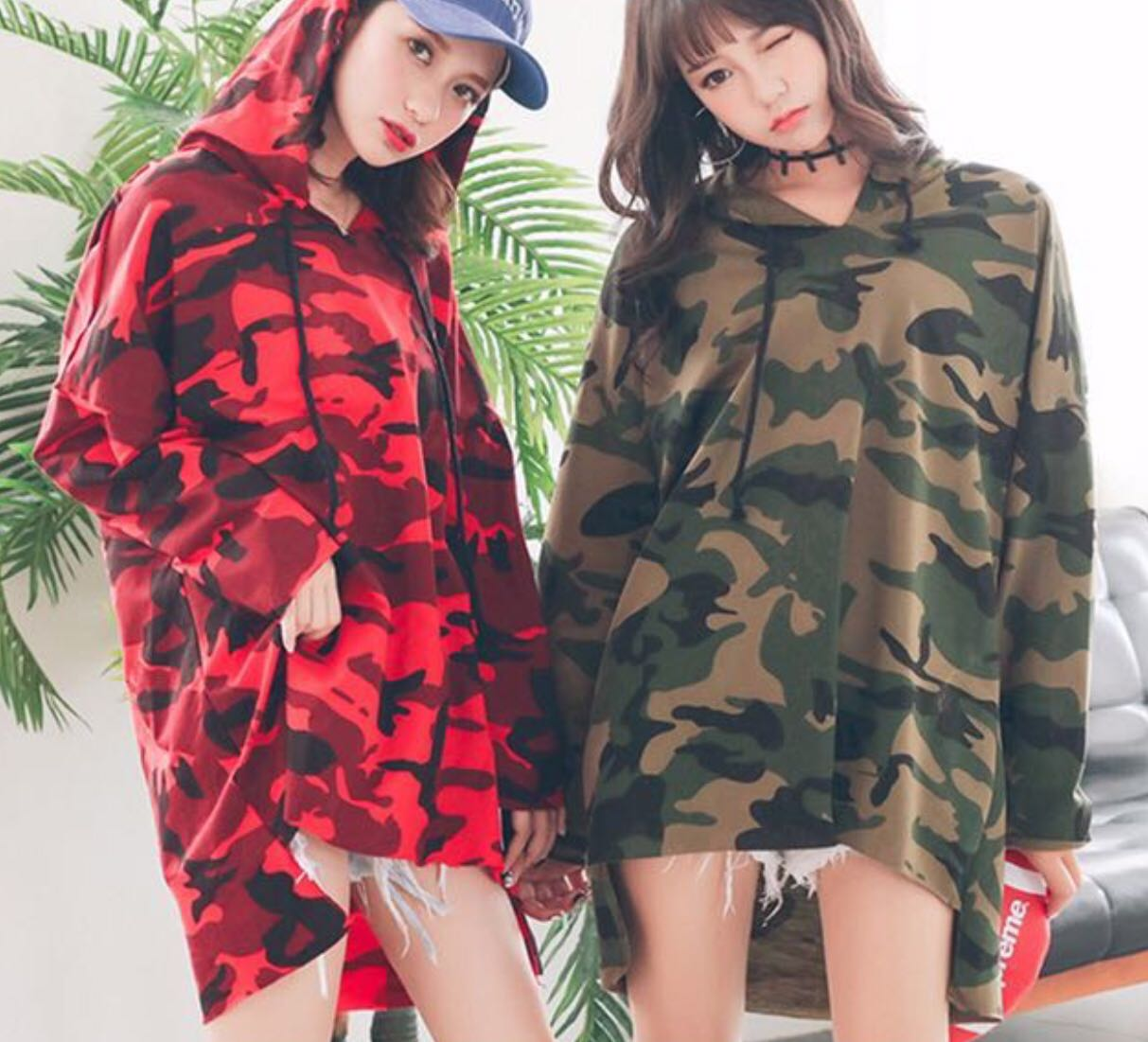 f977780ebc966 Korean Oversize Camo tshirt dress, Women's Fashion, Clothes, Dresses ...