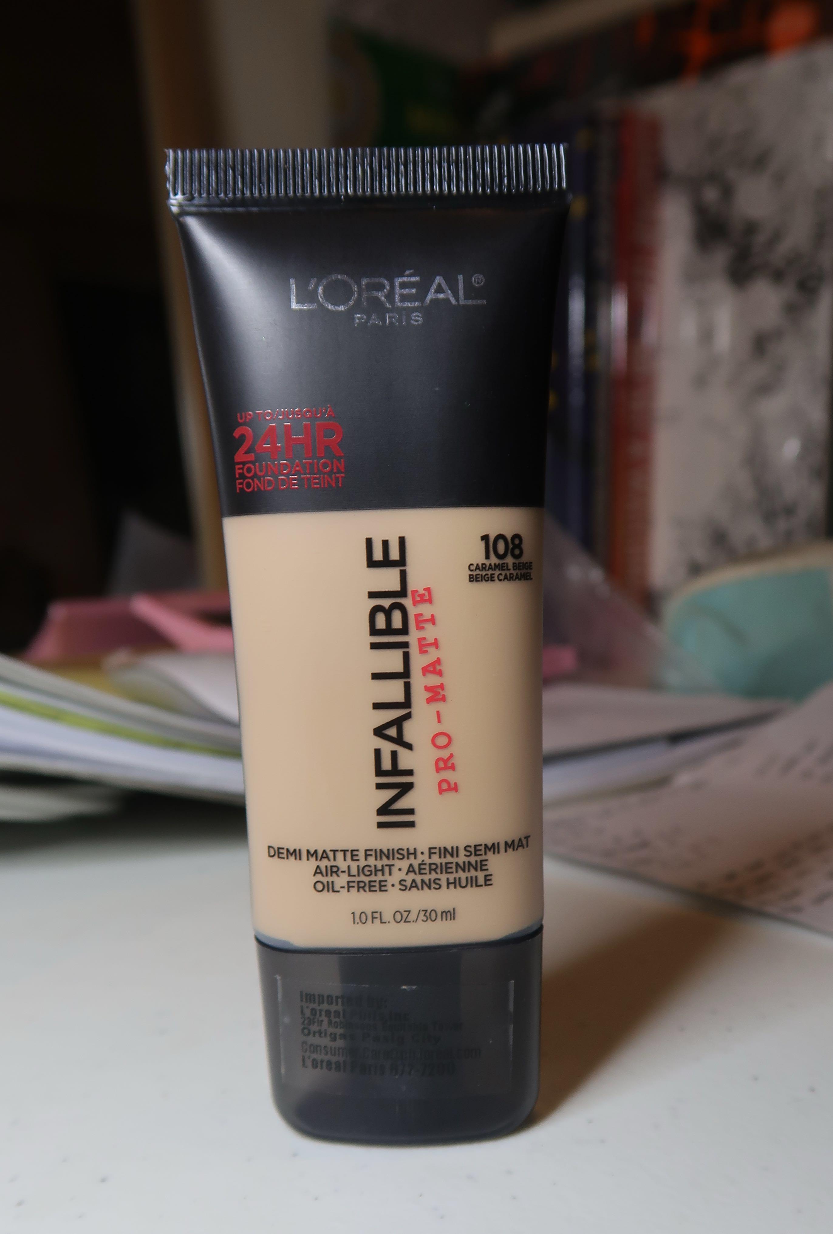 Loreal Infallible Pro Matte 108 Caramel Beige Health Beauty Makeup On Carousell