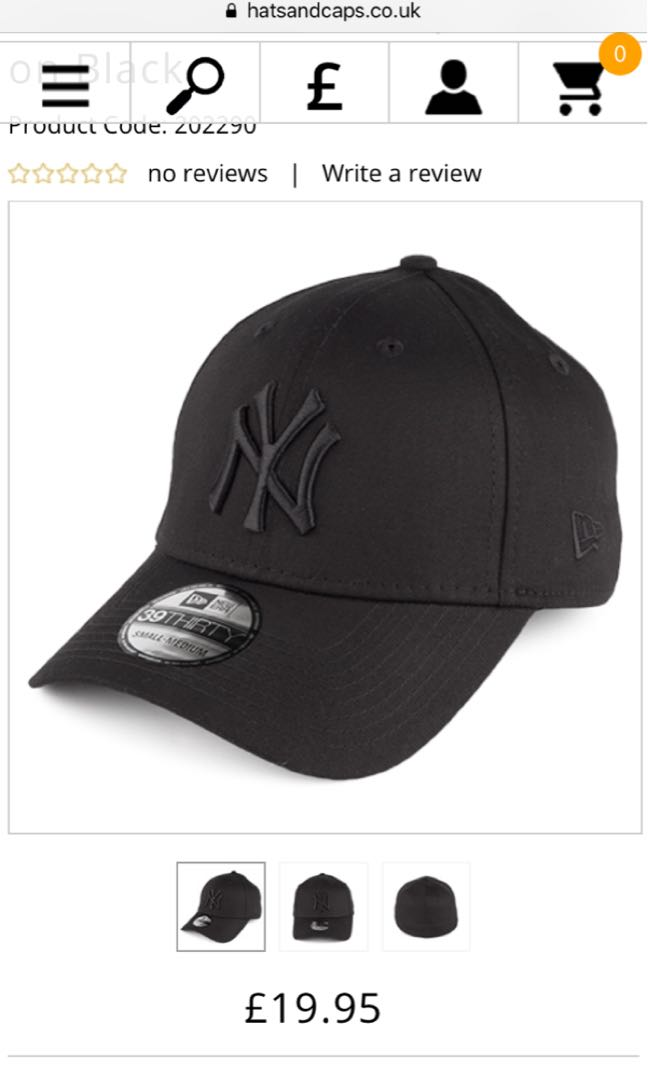 2647e0814818c New Era 39THIRTY New York Yankees Baseball Cap - Black on Black ...