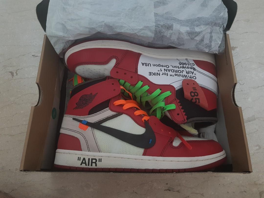 8ce6543c498 Nike Air Jordan (AJ 1) X OFF WHITE CHICAGO 1.0 OG, Men's Fashion ...