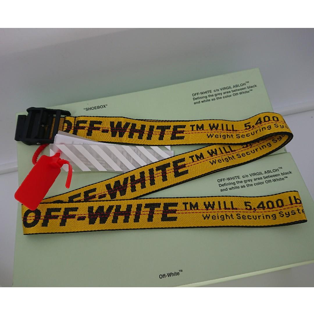 93cf763517040 Off White Yellow Industrial Belt - Black Buckle
