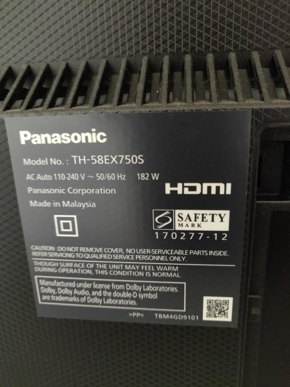 Panasonic 58 inch EX750 (still under 5 year warranty), Home