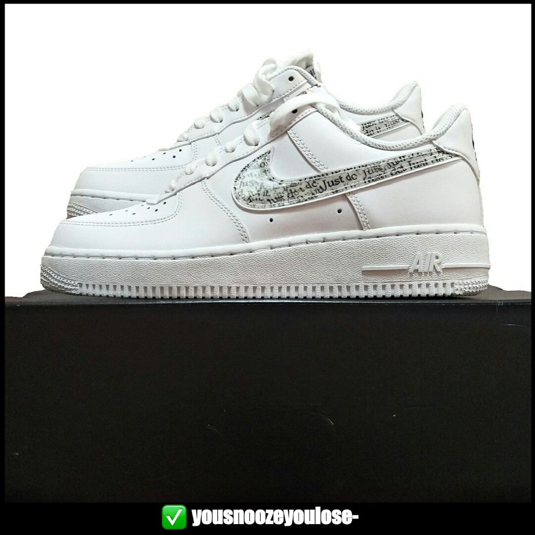 the latest d8efc 92987 [PREORDER] NIKE AIR FORCE 1 LOW LO JUST DO IT JDI TRIPLE WHITE