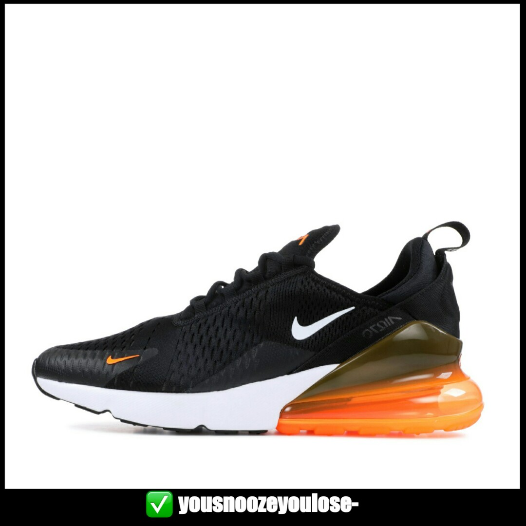 4b5774b9322 PREORDER  NIKE AIR MAX 270 JUST DO IT JDI BLACK ORANGE