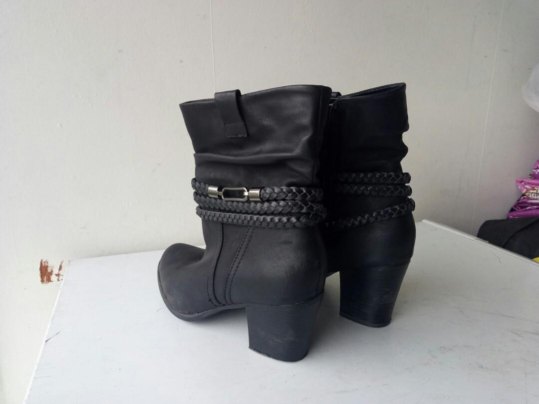 pretty leather boots