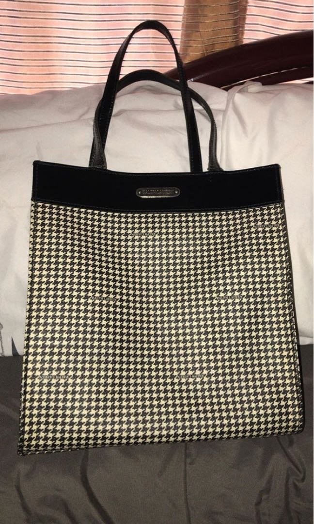 Ralph Lauren Houndstooth Vintage Bayong Bag, Women s Fashion, Bags ... 3bc1eee38a