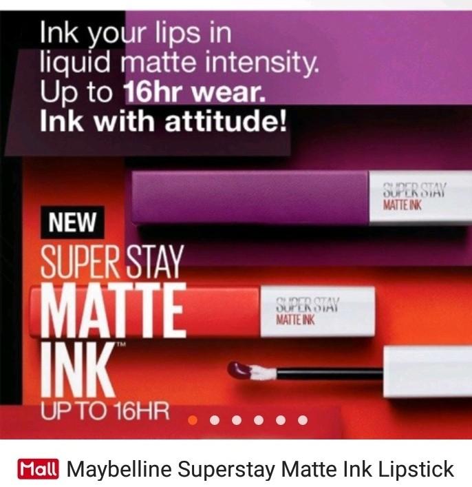 superstay matte ink lipstick health beauty makeup on carousell