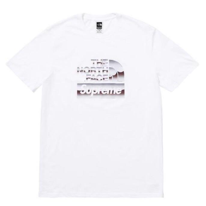 8b546006 Supreme x The North Face TNF Metallic Tee Tshirt, Men's Fashion ...
