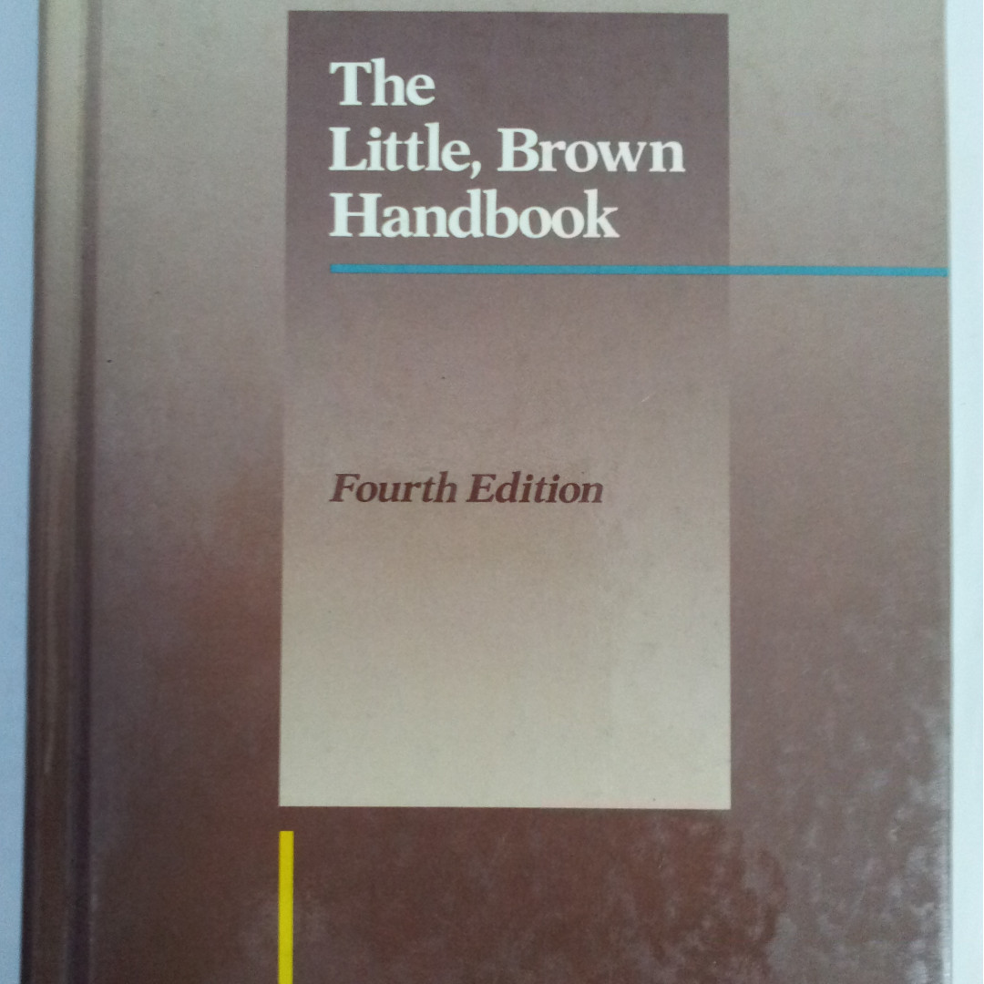 The Little, Brown Handbook, Books & Stationery, Textbooks, Professional  Studies on Carousell