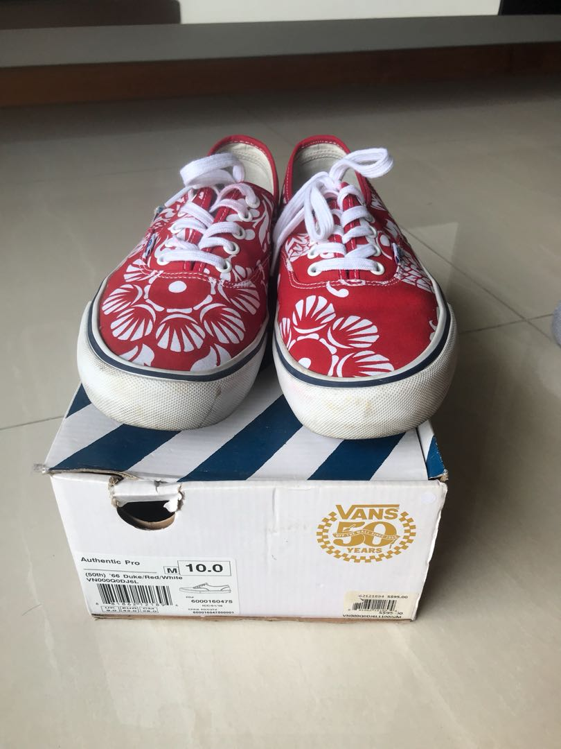 a954a90c24c3 Vans 50th Anniversary  66 Duke Red White