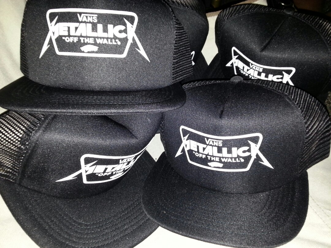 Vans Metallica trucker hats 7ec7915552e