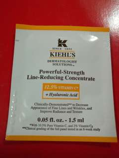 Sample試用裝 Kiehl's 維他命C抗衰老精華Powerful-Strength Line Reudcing Concentrate