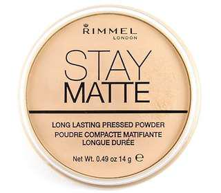 Bedak Wajah Rimmel London Stay Matte Pressed Powder