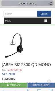 JABRA BIZ2300 headset QD