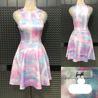 FAYTH Pastel Multicolor Dress