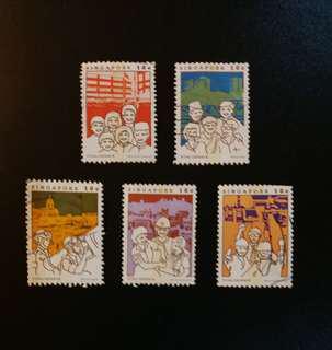 Vintage Singapore Stamps (Total Defence)