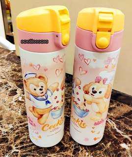 香港迪士尼 Duffy & 曲奇狗cookie狗 可愛卡通保温水壺