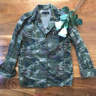 Topshop army green camo jacket