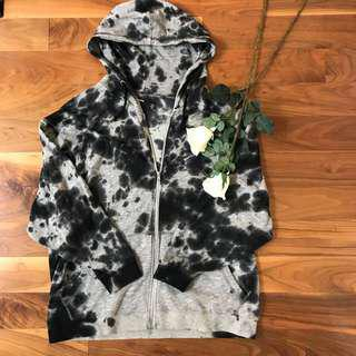 90s tie dye grey black hoodie from urban outfitters