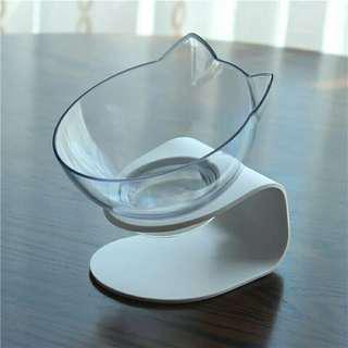 全新 透明加高寵物碗  貓碗  狗碗  寵物用品