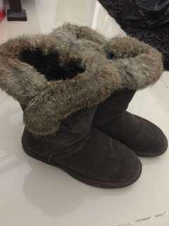 Final: Winter Time Genuine Leather w/ Fur Boots