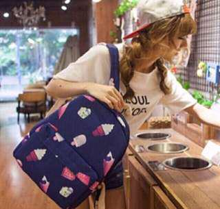 Ulzzang Ice cream Backpack SchoolBag