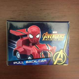 Avengers Infinity War Spiderman pull back car toy