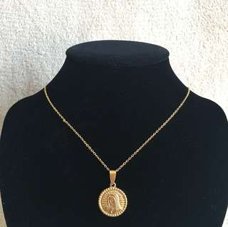Stainless Medallion Necklace