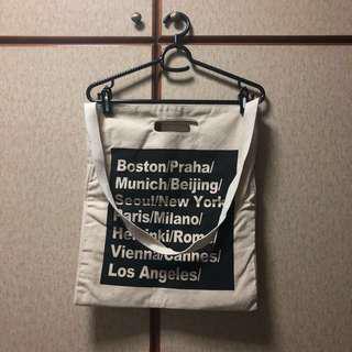 artbox cities text print tote bag