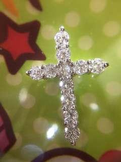 ❇️❣️ 鉑金 天然一卡十字架吊墜 ❣️❇️