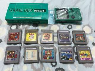 Game boy pocket 連10 games