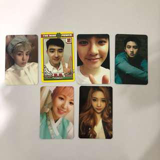 [WTT/WTS] EXO / RV PHOTOCARDS