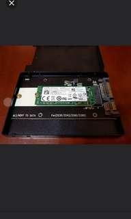 M.2 256GB SSD 連 SATA Adapter