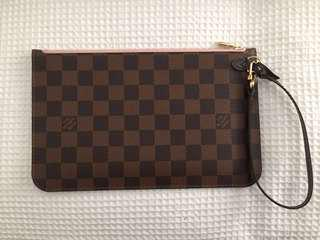 Louis Vuitton Neverfull Damier Pochette with Store  receipt