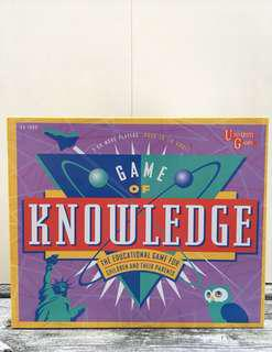 Vintage 1995 Game of Knowledge Boardgame