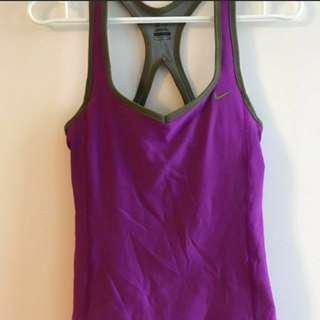 Nike workout top, size small