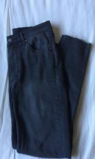 Cheap Monday black altered high waisted second skin jeans size 8 w26