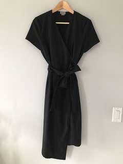 Vero Moda asymmetric wrap dress in size 38
