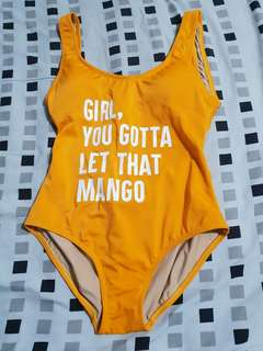 Let that MANgo one piece swimsuit
