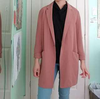 DUSTY PINK/ROSE UNIQLO COAT