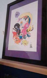 Signed adventure time print
