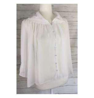 Mins pink sheer blouse