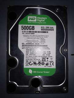 WD 500GB Sata HDD