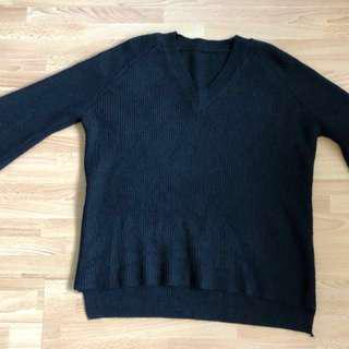 Knitted Black Sweater #50Under
